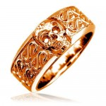 Ladies Wide Skull Ring , 9 Cool Skull Wedding Band In Jewelry Category
