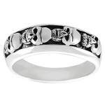 Mens Skull Ring , 9 Stunning Skull Wedding Bands For Men In Jewelry Category