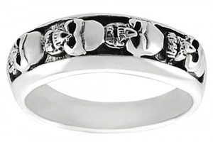 Jewelry , 9 Stunning Skull Wedding Bands For Men : Mens Skull Ring