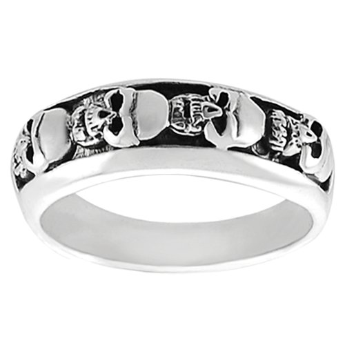 9 Stunning Skull Wedding Bands For Men in Jewelry