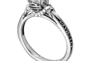 Jewelry , 9 Gorgeous Harley Davidson Wedding Bands : Rolling Sculpture Engagement Ring