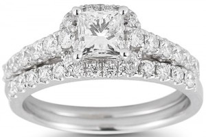 Jewelry , 8 Good Costco Wedding Ring Sets : Round Brilliant Diamond Wedding Set