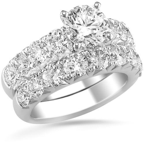 Round Brilliant Diamond Wedding Set Woman Fashion Nicepricesell Com