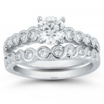 Round Diamond Wedding Set , 8 Good Costco Wedding Ring Sets In Jewelry Category