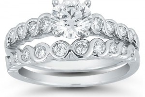 Jewelry , 8 Good Costco Wedding Ring Sets : Round Diamond Wedding Set