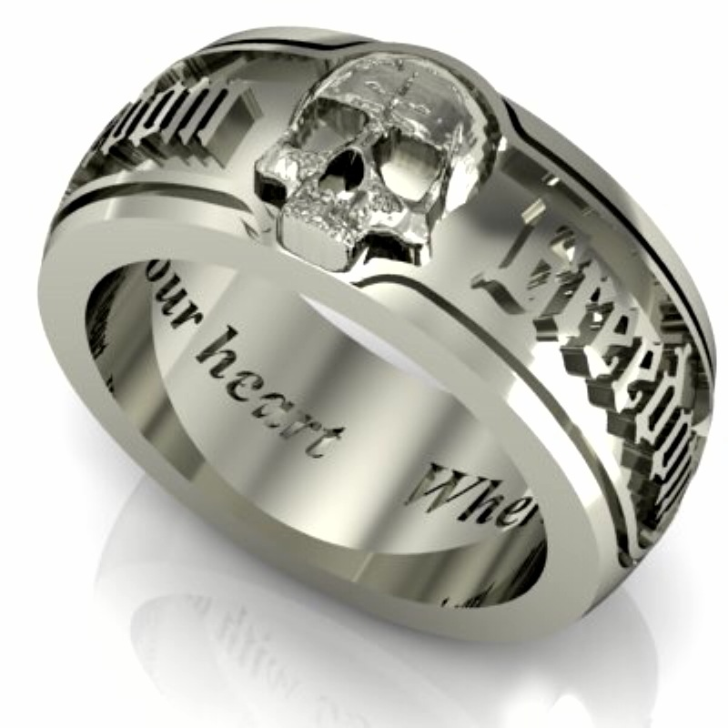 Skull Mens Wedding Bands fallcreekonlineorg