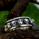 Stainless Steel Punk , 9 Cool Skull Wedding Band In Jewelry Category