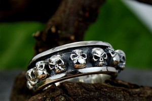 Jewelry , 9 Cool Skull Wedding Band : Stainless Steel Punk