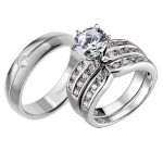 Titanium Sterling Silver Cubic , 8 Cool Wedding Rings Ebay In Jewelry Category