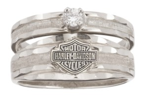 Jewelry , 9 Gorgeous Harley Davidson Wedding Bands : Wedding Diamond White Gold