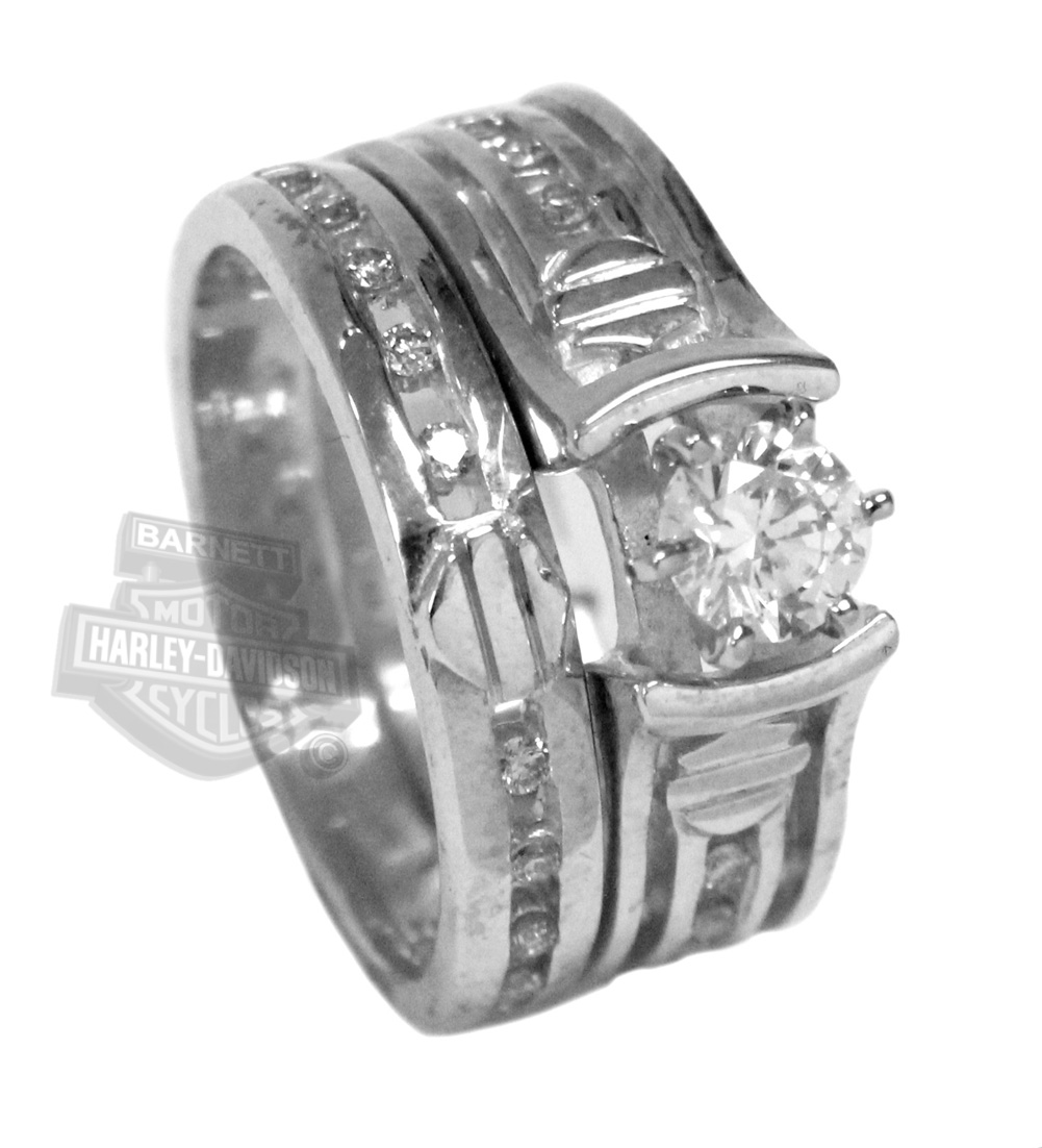 7 Unique Harley Davidson Wedding Ring Sets in Jewelry