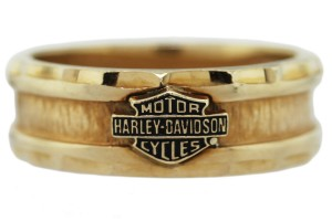 Jewelry , 9 Gorgeous Harley Davidson Wedding Bands : Yellow Gold Wedding Band Ring