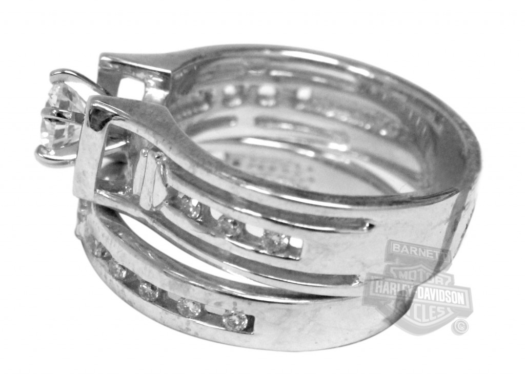 Zirconia Wedding Set Silver Ring 7 Unique Harley Davidson Wedding Ring Sets