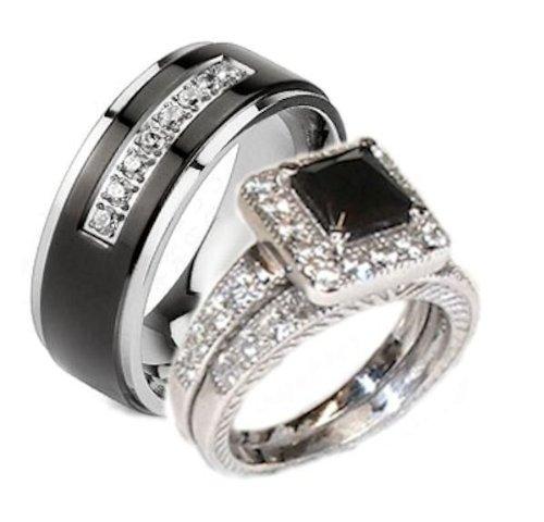 3 Sets Wedding Rings 007 - 3 Sets Wedding Rings