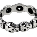 diamond wedding bands , 8 Lovely Skull Wedding Bands In Jewelry Category