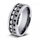 Men Wedding Bands , 9 Cool Skull Wedding Band In Jewelry Category