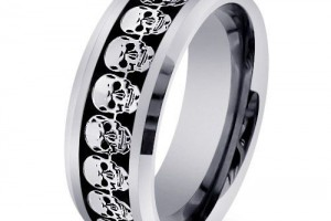 500x500px 9 Cool Skull Wedding Band Picture in Jewelry