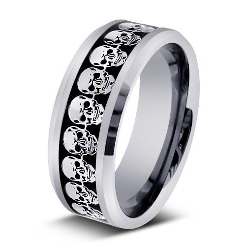 Jewelry , 9 Cool Skull Wedding Band :  Men Wedding Bands