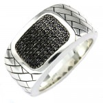 silver black diamond , 10 Nice Ebay Mens Rings In Jewelry Category