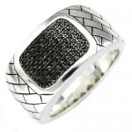 silver black diamond , 10 Nice Ebay Mens Rings In Jewelry Category