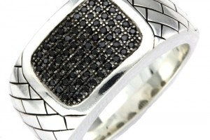 Jewelry , 10 Nice Ebay Mens Rings : silver black diamond