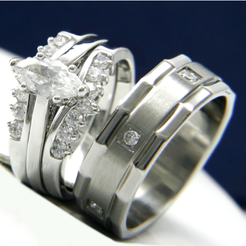 Jewelry , 7 Gorgeous Ebay Wedding Rings Sets :  Silver Wedding Ring