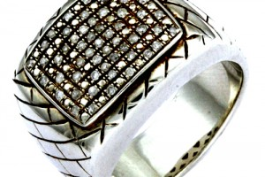 Jewelry , 10 Nice Ebay Mens Rings : silver white diamond