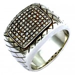 silver white diamond mens ring , 11 Stunning Mens Rings Ebay In Jewelry Category