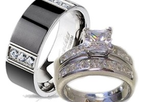 Jewelry , 10 Charming Cheap His And Her Wedding Ring Sets :  wedding ring collection