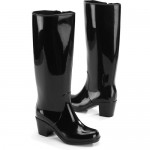 Beautiful  black rubber rain boots product Image , Excellent Women\s Rain Boots  Product Image In Shoes Category