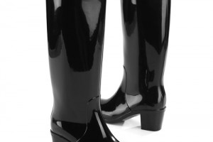 Shoes , Excellent Women\s Rain Boots  Product Image : Beautiful  black rubber rain boots product Image