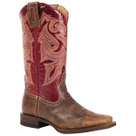 Beautiful  brown square toe cowgirl boots , Beautiful  Square Toe Cowboy Boots Product Lineup In Shoes Category