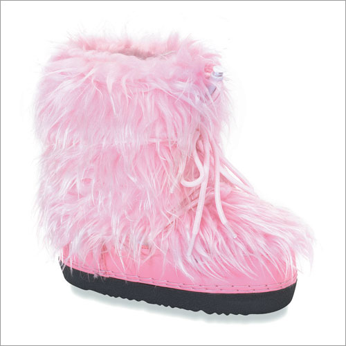 Shoes , Lovely  Furry BootsProduct Lineup :  Beautiful Pink Furry Boots Product Image