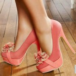 Beautiful  Pink High Heels Collection , Gorgeous High Heels Pink Peach Product Ideas In Shoes Category