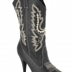 Black Adult Cowgirl Boots product Image , Awesome Cowgirl Boots product Image In Shoes Category