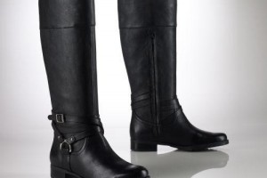 Shoes , Charming Ralph Lauren Riding Boots Dsw Image Gallery : Black  Ralph Lauren Sonya Riding Boots
