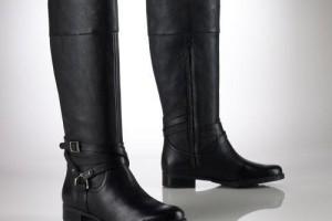 Shoes , Charming Ralph Lauren Riding Boots DswImage Gallery : Black  Ralph Lauren Sonya Riding Boots