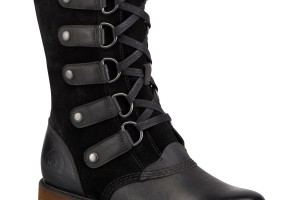 Shoes , 14  Gorgeous Sorel Womens Boots Photo Gallery : Black Sorel Scotia Lace Boot Image Gallery