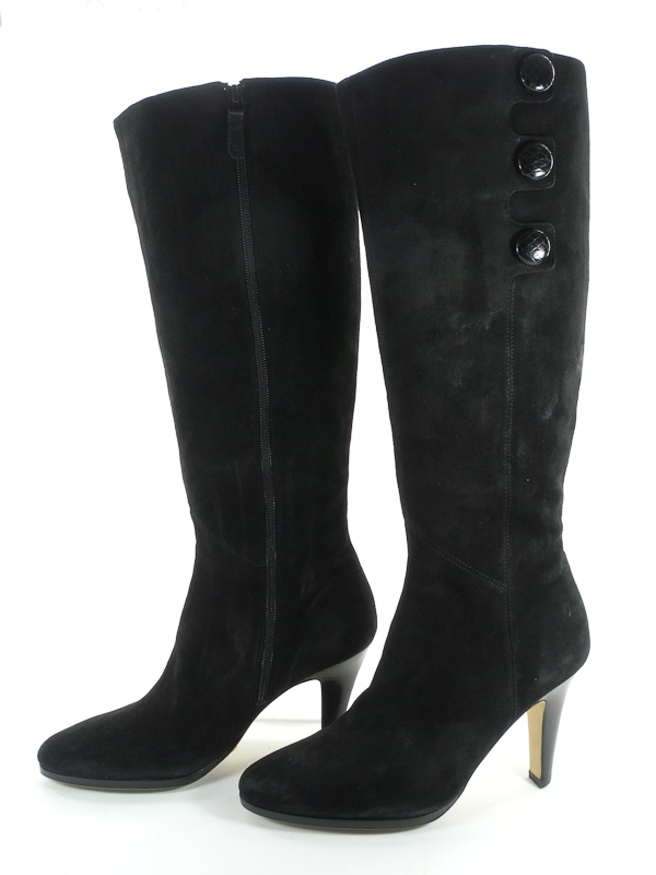Stunning Cole Haan Nike Air Black Leather Boots Collection in Shoes