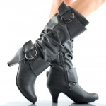 Black  high heel boots for little girls Photo Gallery , Breathtaking High Heel Boots For Kids Girls Image Gallery In Shoes Category