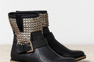 Shoes , Beautiful Black Moto Boots For Women Product Ideas : Black leather boots for women Collection