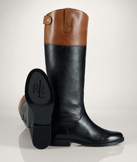 Shoes , Charming Ralph Lauren Riding Boots DswImage Gallery : Black  Ralph Lauren Boots Mens Picture Collection
