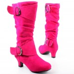 Boots Pink Shoes High Heels Picture Collection , Breathtaking High Heel Boots For Kids Girls Image Gallery In Shoes Category