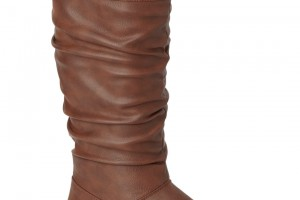 Shoes , Fabulous  Flat Boots For Women Product Ideas : Brown Buckle Top Flat Boot Product Lineup