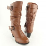 Brown  ankle high heel boots   Image Collection , Breathtaking High Heel Boots For Kids Girls Image Gallery In Shoes Category