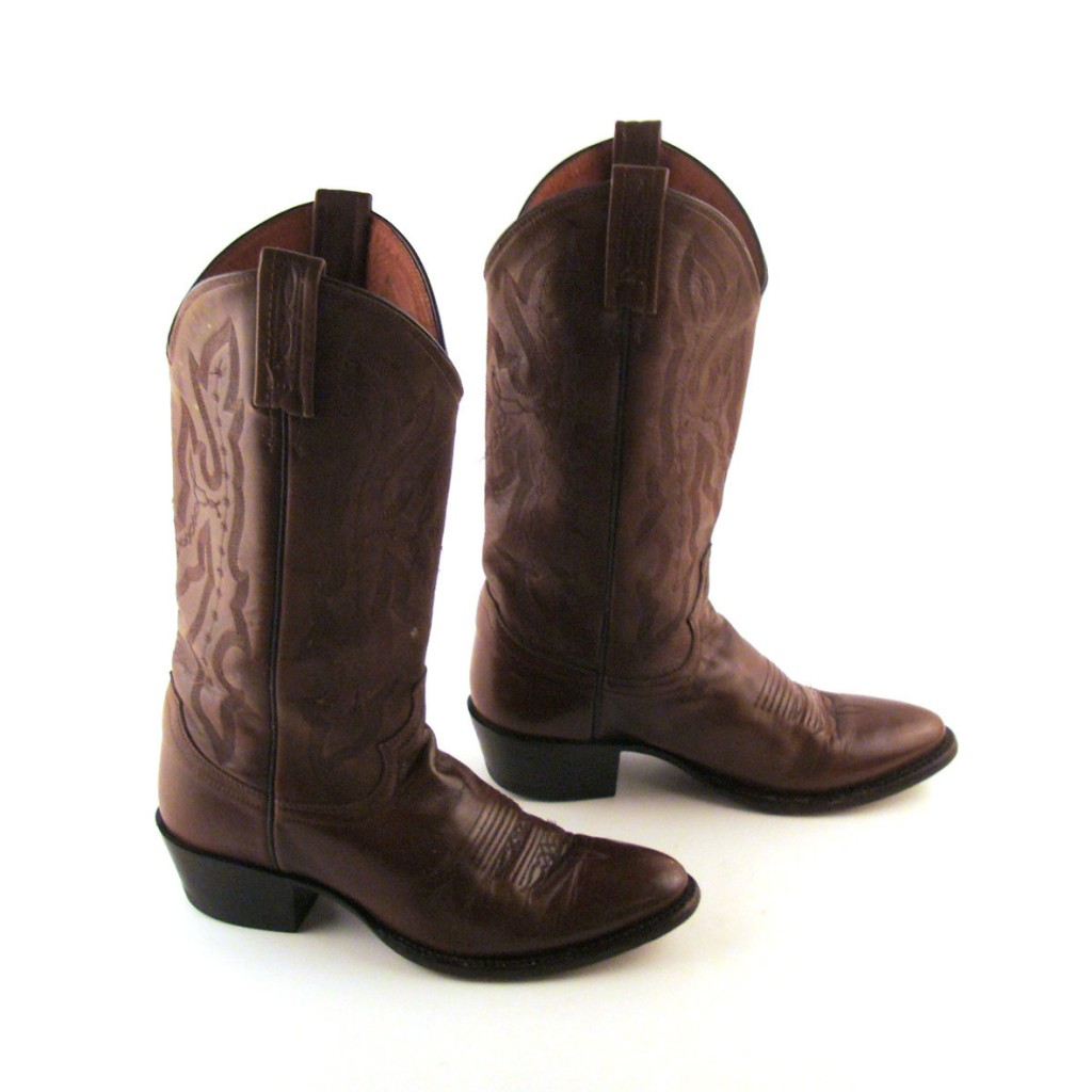 Shoes , Charming Wide Calf Cowboy Boots For Women Photo Gallery : Brown  Extra Wide Calf Cowboy Boots Photo Gallery