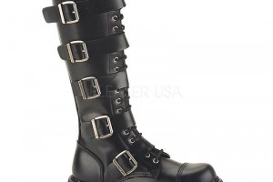 Shoes , Lovely Gothic Combat Boots Product Ideas : Charming black  female combat boots