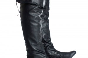 Shoes , Fabulous  Flat Boots For Women Product Ideas : Charming black  flat leather boots