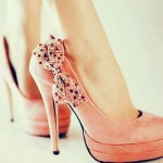Charming Pink  High Heel Pumps , Gorgeous High Heels Pink Peach Product Ideas In Shoes Category