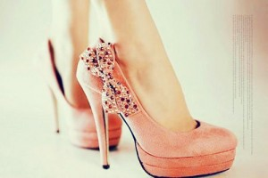 Shoes , Gorgeous High Heels Pink Peach Product Ideas : Charming pink  high heel pumps